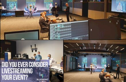 Here's a glimpse of how a live streaming event at BluePoint is organized!  - Foto 1