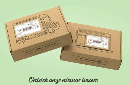 Saaie sticker van Bpost leuk ingekaderd op de Apéro boxen. - Foto 1