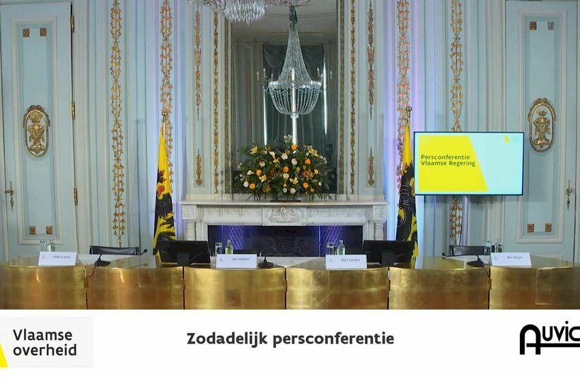 Aangepaste Coronacrisis persconferenties van de Vlaamse Overheid audiovisueel begeleid door Auvicom - Foto 1