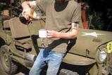 Mobiele koffiebar in army stijl - Foto 2
