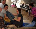 Beestige teambuildings en vergaderen in een huifkar