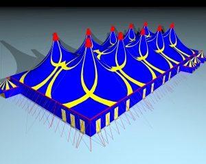 Kleur je festival met de blauwe tent van Van Ham