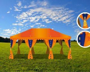 Oranje tent kleurt je event