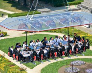 Bezoek president Obama zorgt voor extreme veiligheidsmaatregelen Dinner in the Sky