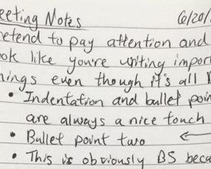 Hoe 'fake' je notities tijdens een oersaaie meeting?