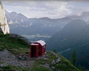 Klim jij naar 2000 meter hoogte voor deze originele pop-upstore?