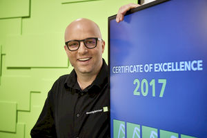 Winnaars 'eventplanner.be /.nl Certificates of Excellence 2017'