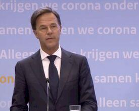 "Premier Rutte: ""Geen feestjes thuis organiseren"""