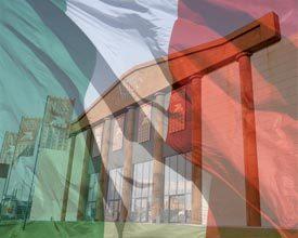 Italiaanse vlag voor goede doel