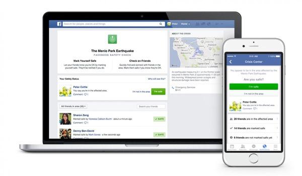 Facebook 'Safety Check' laat vrienden weten dat je OK bent na drama