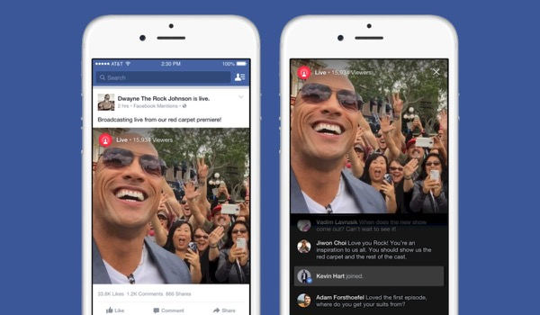 Facebook lanceert live streaming feature