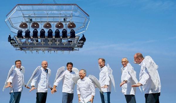 Grootste openluchtrestaurant ter wereld op 50 meter hoogte