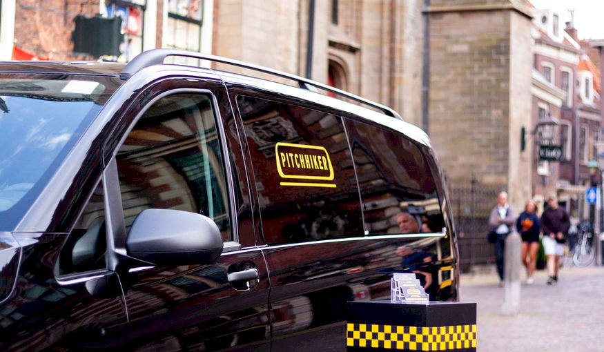 PitchHiker: 15 taxi ritten, 15 agencies, 15 pitches