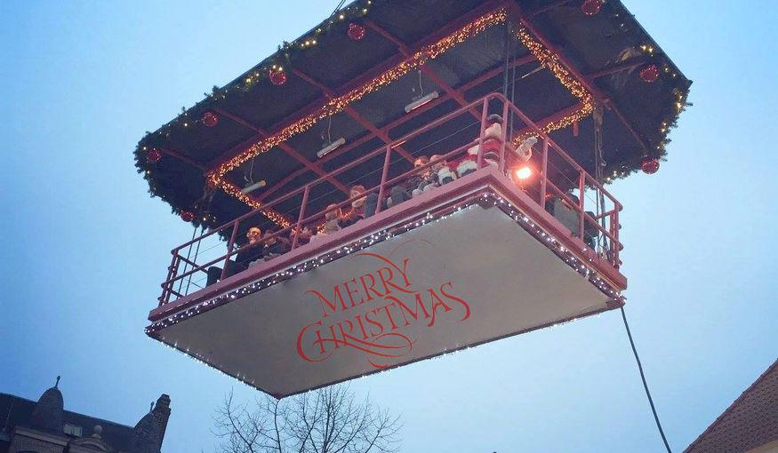 Magie van Kerst op 50 meter hoogte